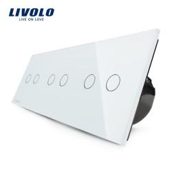 Livolo Луксозен ключ, Кристално стъкло , Нормален, 6 ключа, 1 посока