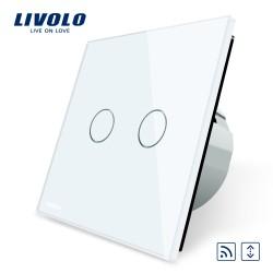 Livolo Луксозен ключ,  Кристално стъкло, За щори с дистанционно управление