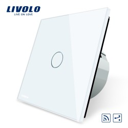 Livolo Луксозен ключ, Кристално стъкло, Девиаторен с дистанционно управление