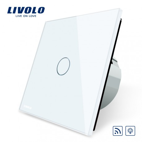 Livolo Луксозен ключ,  Кристално стъкло, Димер с дистанционно