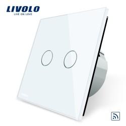 Livolo Луксозен ключ,  Кристално стъкло ,С дистанционно управление , 2 ключ, 1 посока