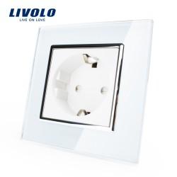 Livolo Луксозен контакт,  Кристално стъкло , Единичен