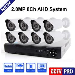 AHD цифрова готова система с 8 камери и AHD DVR