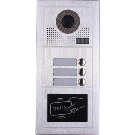 Видеодомофонно табло 2 проводно, 3 абонат, RFID четец