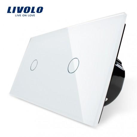 Livolo Луксозен ключ, Кристално стъкло , Нормален, 2 ключ, 1 посока