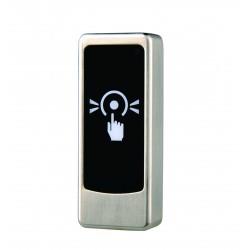 Бутон за отключване тъч с LED- метален, за монтаж на стена NO/NC