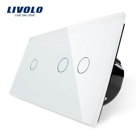 Livolo Луксозен ключ, Кристално стъкло , Нормален, 3 ключа, 1 посока