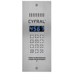 Цифрово двупроводно домофонно табло Цифрал с RFID четец